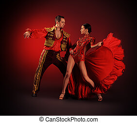 hot dance - Professional dancers perform latino dance....