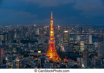 Tokyo tower at the Tokyo city in Japan