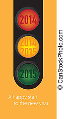 New Year wishes to the traffic ligh