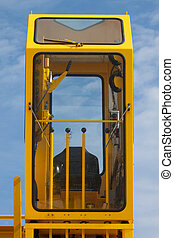Cabin of crane driver, Crane driver operation in the cabin...