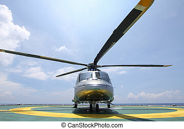 helicopter parking landing