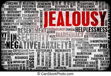 Jealousy as a Negative Emotion Concept Art