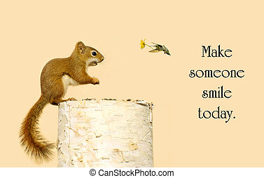 Inspirational message about kindness with a little squirrel...