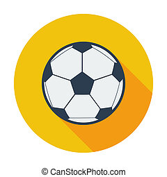Soccer ball. Single flat color icon. Vector illustration.