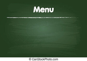 Restaurant Menu On Blank Green Board