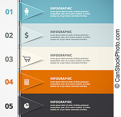 Infographic Background - Infographic background, five steps...