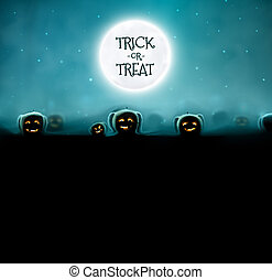 Trick or Treat - Halloween background, trick or treat...