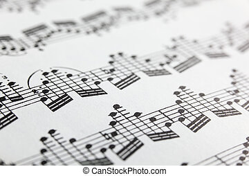 Sheet music - A detail of sheet music for solo violin