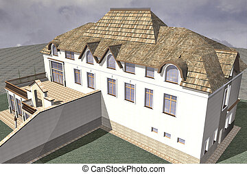 Two Storey Villa - Two storey villa in a traditional style