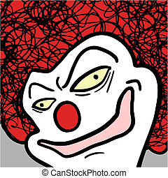 Face clown - Creative design of face clown