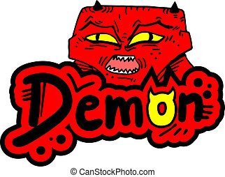 Red demon - Creative design of red demon