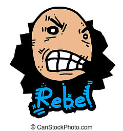Rebel puppet - Creative design of rebel puppet