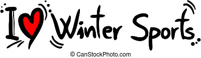 Winter sport love - Creative design of winter sport love