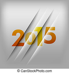 Numbers Background 2015 - Simple gray background with orange...