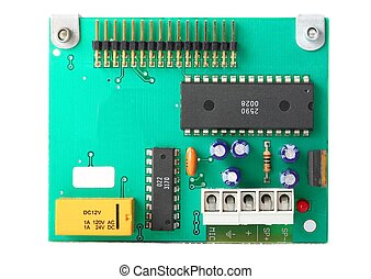 Circuit Board - Small circuit board with electronic...
