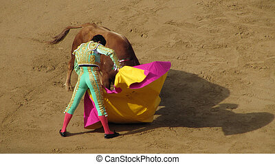 Torero in Pamplona - Pamplona, Spain-July 9, 2009: El Cid...
