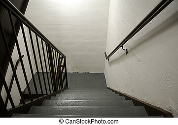 Stairwell - Hotel stairwell, Houston Street, New York, New...