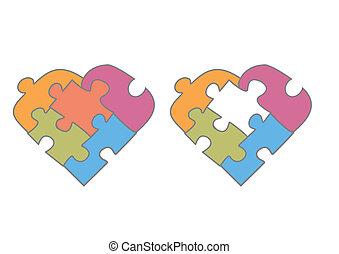 heart - Quizs quisiste decir: corazn con piezas de puzzle...