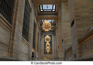 Grand Central - Chandeliers, Grand Central Station, New...