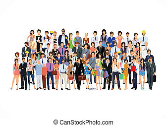 Large group of people - Large group crowd of people adult...