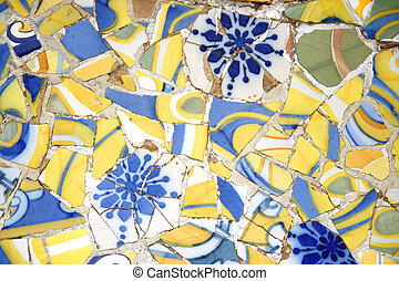 Tiled Bench in Parc Guell