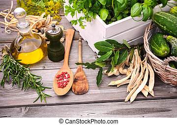 Cooking ingredients - Ingredients and spice for cooking on...
