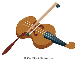 Violin - cartoon violin isolated on a white background