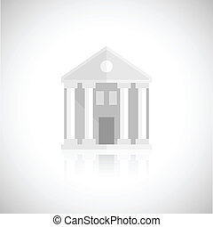 Museum building icon - Museum building flat icon isolated on...