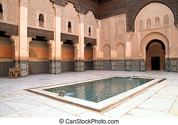 Madrassa in Marrakech - The Ali Ben Youssef Madrassa in...