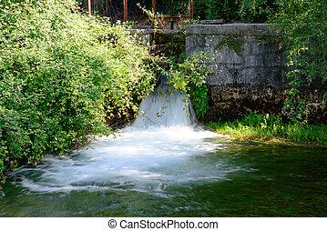 beautiful cascade water fall