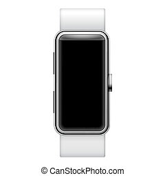 Smartwatch ilustration isolated on white background with...