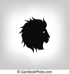 stylized lion head - vector illustration