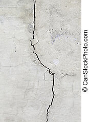 Cracked Concrete Wall - Cracked cement wall, detail of a...