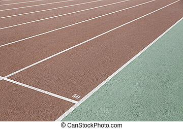 Detail of a running track