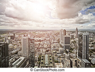 aerial view of Frankfurt am Main, Germany