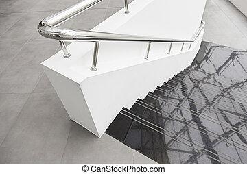 Black marble stairs