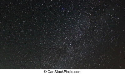 Time lapse of stars behind fortress