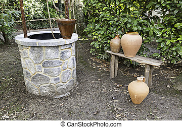 Well in a garden