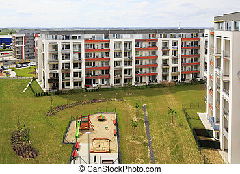 New residential complex in Prague. Czech Republic.