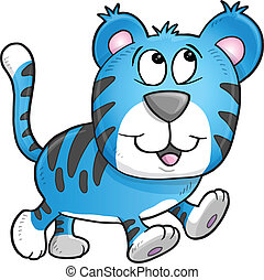 Cheerful Tiger Vector Illustration