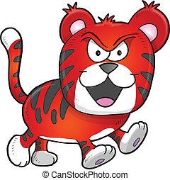 Nasty Mean Tiger Vector