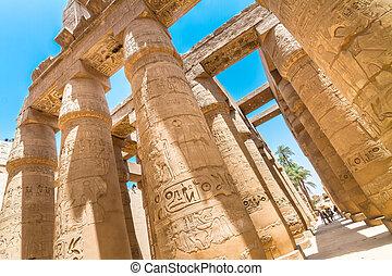 Temple of Karnak, Luxor, Egypt. - Ancient Egyptian Temple of...