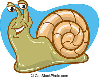 Happy Snail - Happy snail slugging along