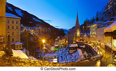 Mountains ski resort Bad Gastein Austria - architecture and...