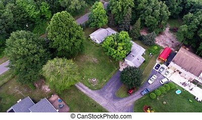Aerial view of green forest treetop - Forest top view aerial...