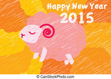 Newyear - It is an illustration of New Year's postcard of...