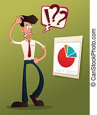analyze business result - young businessman analyze business...