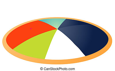 chart - colored pie chart with different elevations