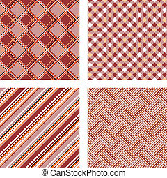 Design seamless colorful kitchen patterns set. Abstract...