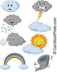 Weather symbol cartoon - vector illustration of Weather...